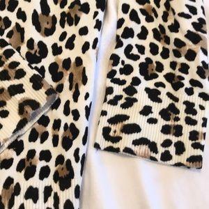 White House Black Market Sweaters - White House Black Market Leopard Cardigan S